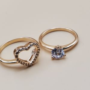 Promise rings set 2 on 1